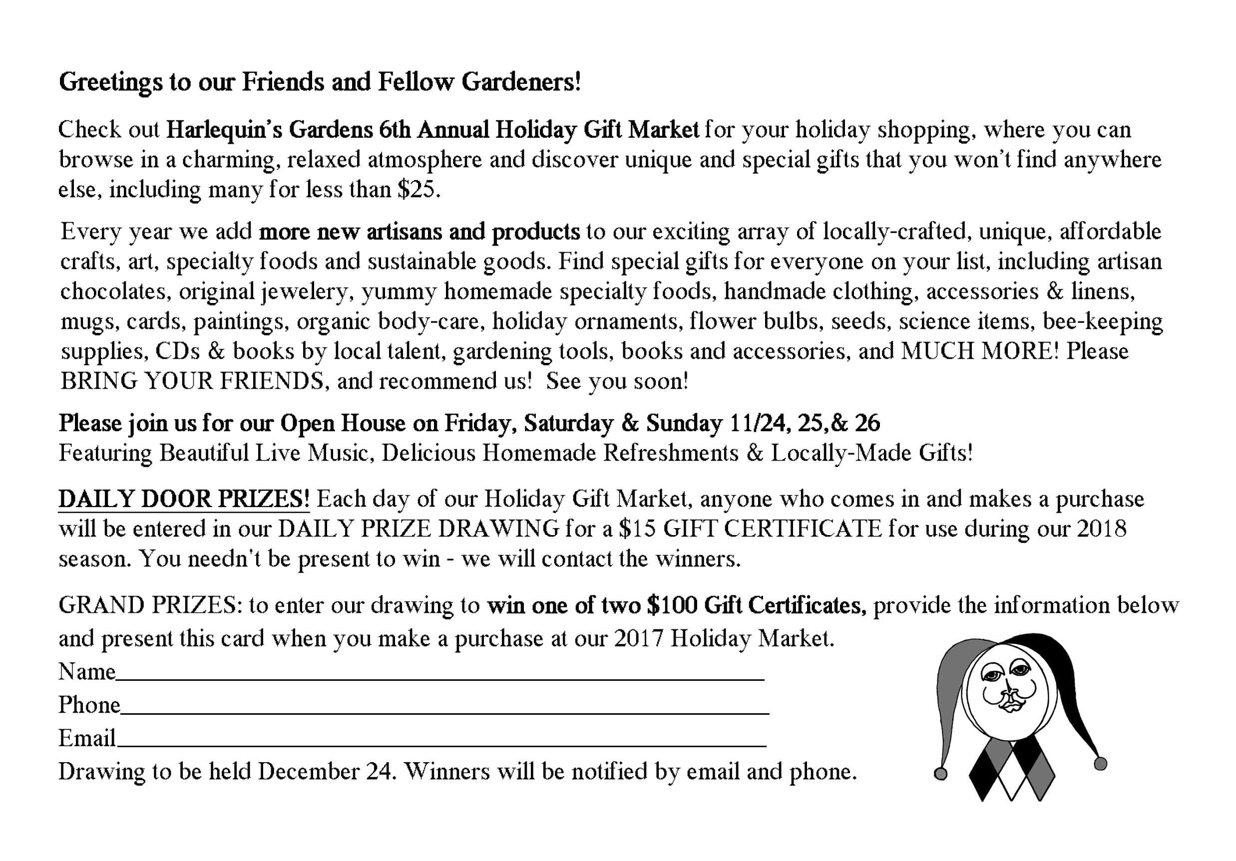 Page 2 of Holiday Market Info