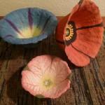 Paper Mache Flower Bowls